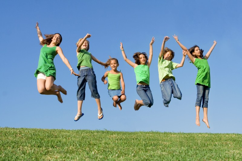 3469521 - happy group of kids jumping