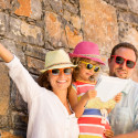 38744394 - happy family on summer vacation. travel and adventure concept