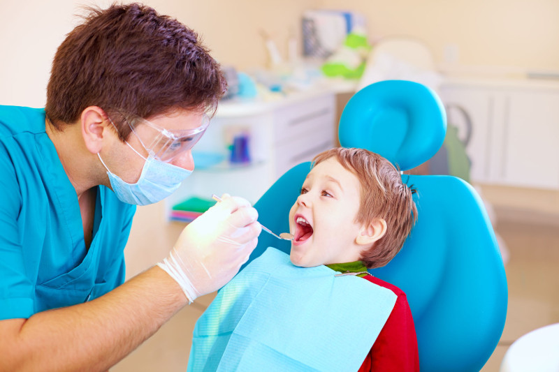 40826413 - small kid patient visiting specialist in dental clinic