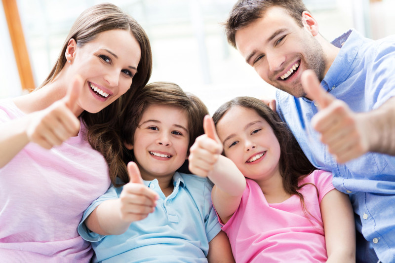 40896795 - family with thumbs up