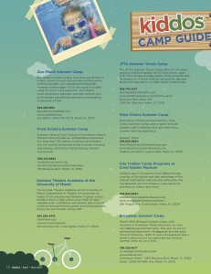 Kiddos Vol 4 Issue 5 SUMMER CAMP GUIDE